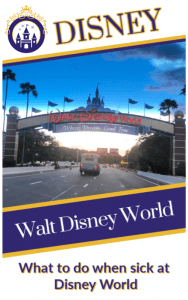 What to do when you get sick at Disney World