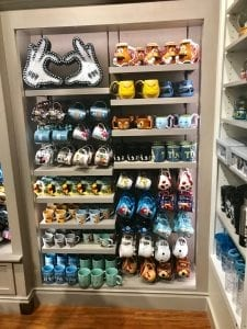 Disney mugs at Disney Springs
