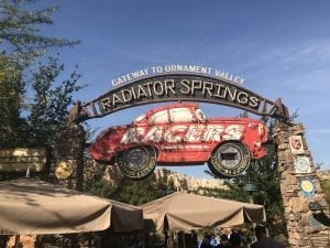 Racers ride at Disney California Adventure Park in Anaheim California