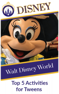 Activities for tweens at Walt Disney World